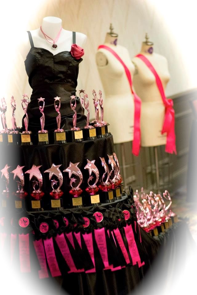 "Our Trophy Display for our 2015 Fashion Show, ""She's Got Style"" celebrating Barbie's 55th!"