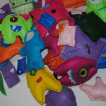colorful felt monsters