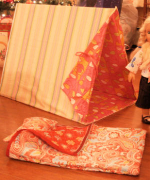 American girl doll tent and sleeping bag