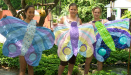 The girls make BIG Beautiful Butterfly Quilts!!!