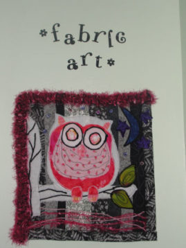 Have you tried your hand at Fabric Art yet?  No rules, no restrictions, just plain fun!
