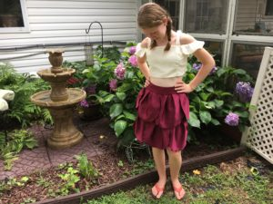 DIY from bridesmaid dress to chic flower pedal skirt