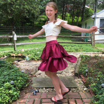 Transformation: Bridesmaid's Dress into a Fashion Forward Pedal Skirt