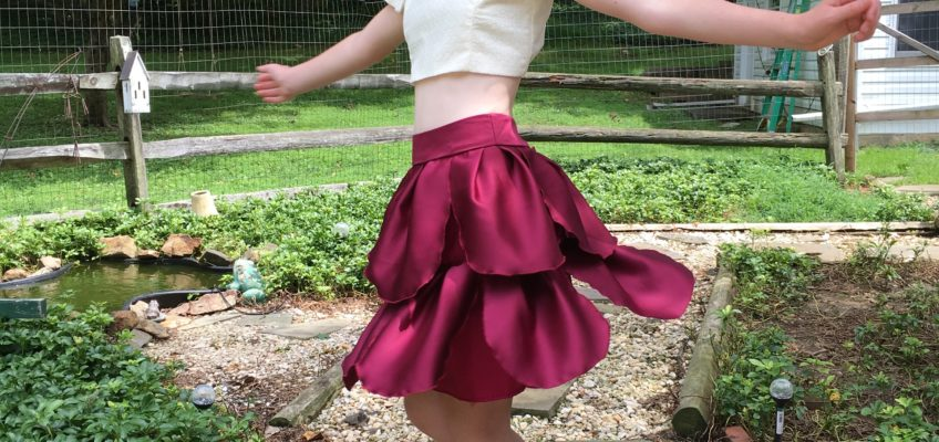 Transformation: Bridesmaid's Dress into a Fashion Forward Pedal Skirt