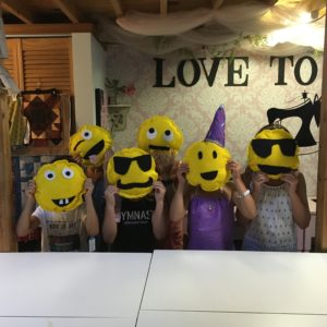 kids sewing party, emoji pillows to sew