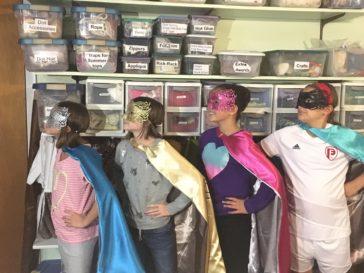 Super Heroes in the Studio