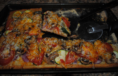 3 Cheese Garden Veggie Pizza