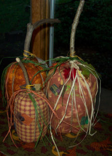 Handmade country pumpkin easy to sew autumn craft