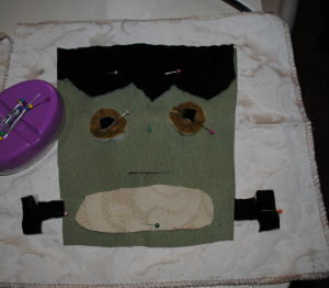 Beginning patterns, easy to sew, handmade halloween craft