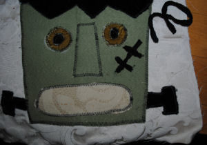 Halloween craft that is handmade and easy to sew