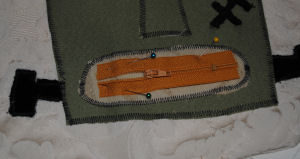 Fun and handmade Halloween Frankenstein craft that is easy to sew