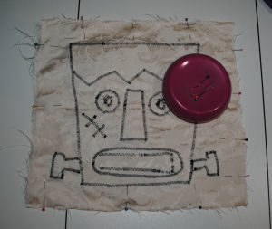 A creepy, handmade, and easy to sew Frankenstein pillow for Halloween