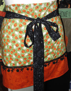 An easy to sew handmade Halloween apron