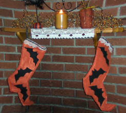 How to Make a Primitive Halloween Stocking