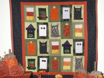 How to Make an Appliqué Halloween Character Quilt