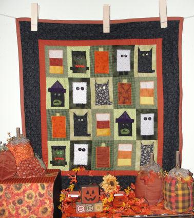 How to Make an Appliqué Halloween Character Quilt