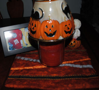 How to Make a Halloween Quilted Ribbon Candle Mat
