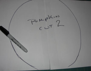 A pattern for a handmade Halloween tapestry pumpkin that is easy to sew